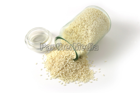 risotto, rice, in, a, jar, spilled - 2904185