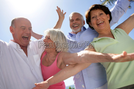 happy, group, of, seniors, by, raising - 2911405