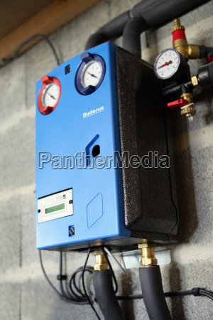 new, ecology, heating, solar station, renewable energy, pressure control dials - 2911435