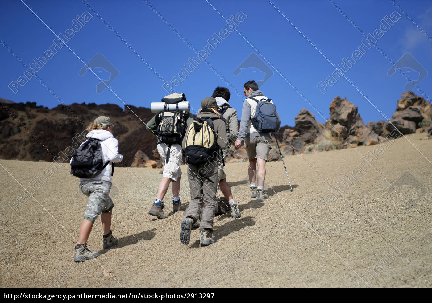 men, and, women, walking, with, hiking - 2913297