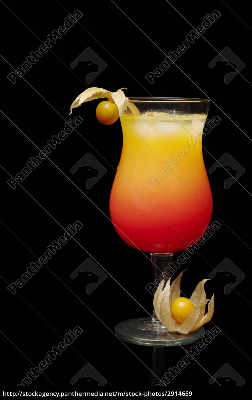 tequila, sunrise, on, black, background - 2914659