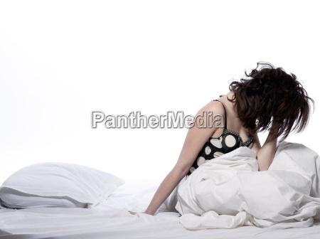 woman, in, bed, awakening - 2917735