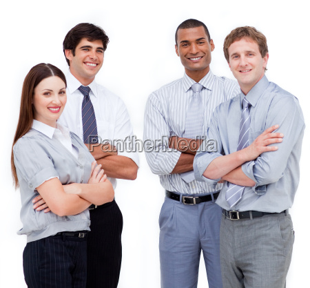 portrait of confident business people with