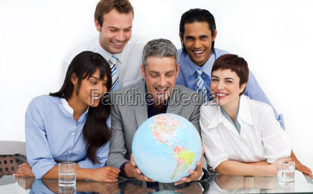 a business group showing diversity looking