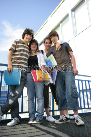 young, boys, and, girls, smiling, with - 2946309