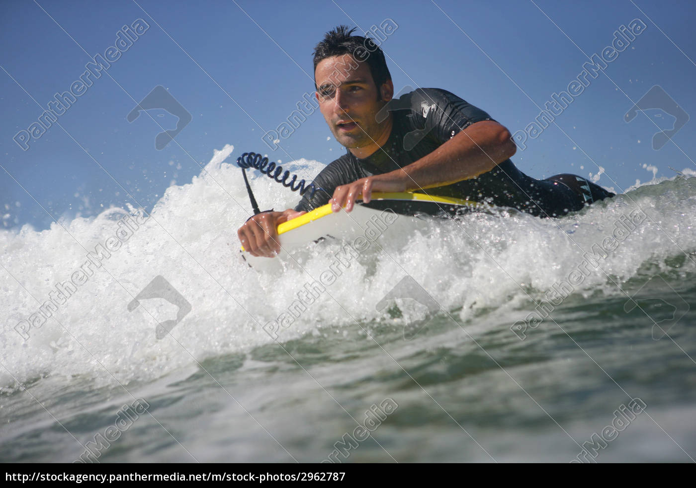 man, overboard, with, bodyboard - 2962787