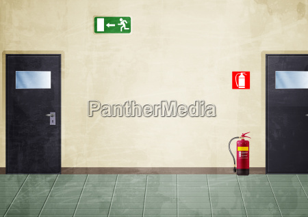 corridor grunge style colors