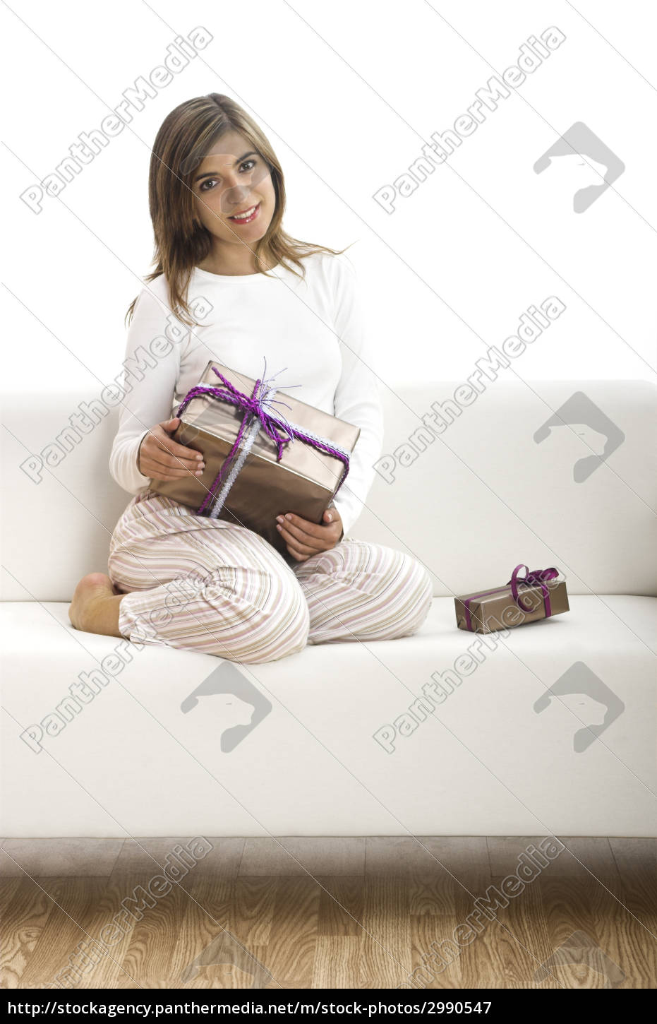 happy, woman, with, gifts - 2990547