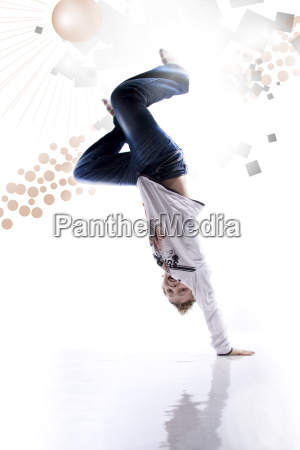 boy makes headstand wd641