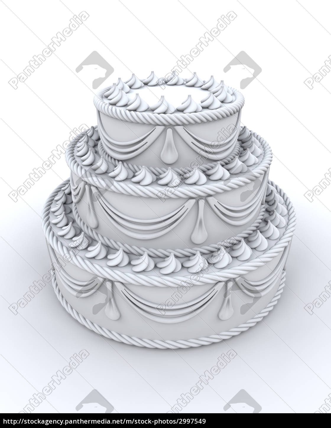 3d, render, of, decorated, cake - 2997549