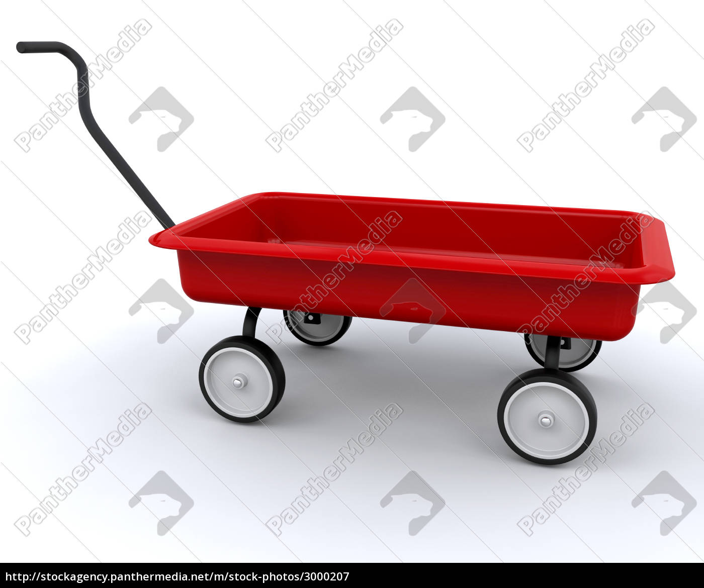 3d, red, wagon - 3000207