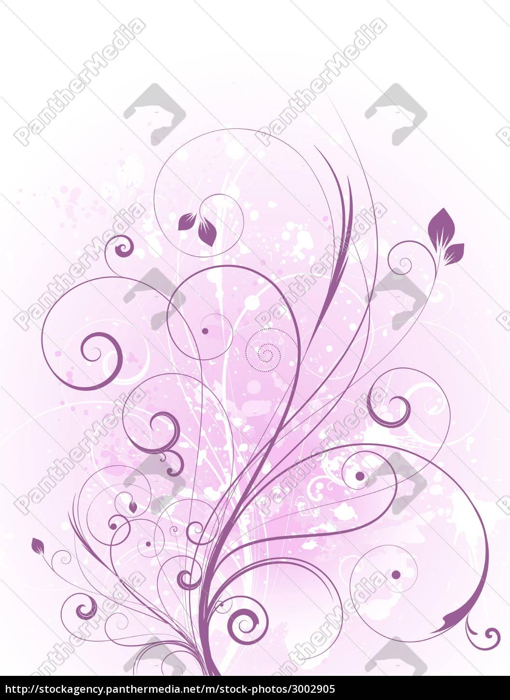 floral, grunge, - 3002905