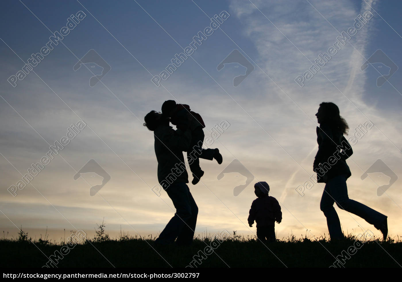silhouette, family, of, four - 3002797