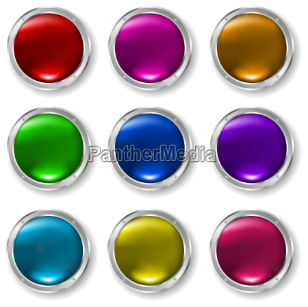 glossy, buttons - 3003031