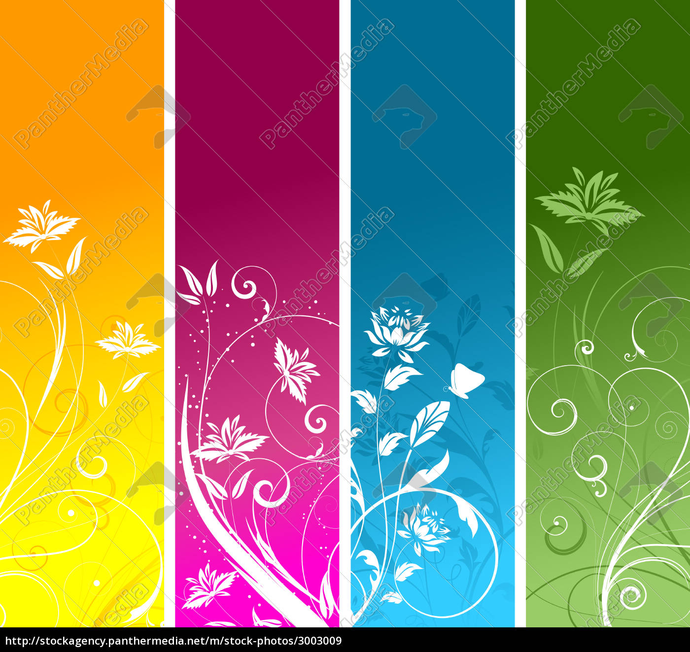 leaf, flower, plant, ornate, banner, abstract - 3003009