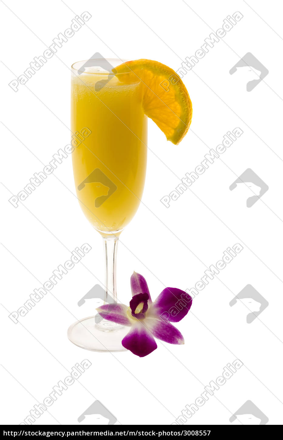 mimosa, cocktail, on, a, white, background - 3008557
