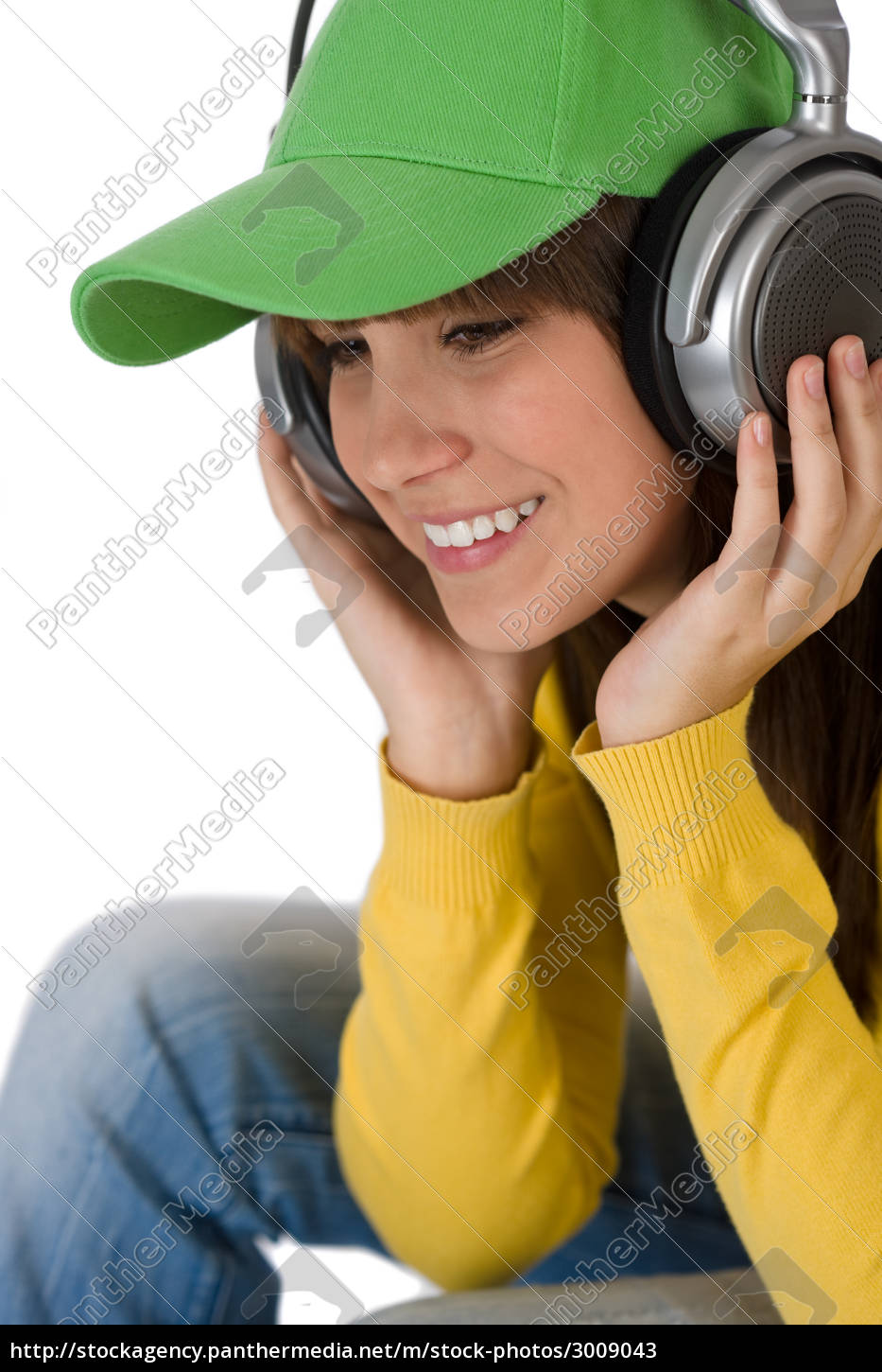 happy, female, teenager, enjoy, music, with - 3009043