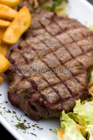 rump, steak, roast, beef, with, green - 3021046
