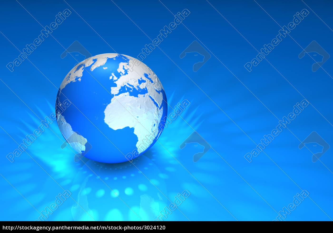 globe, blue - 3024120