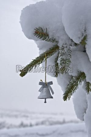 small, christmas, tree, bell - 3026578