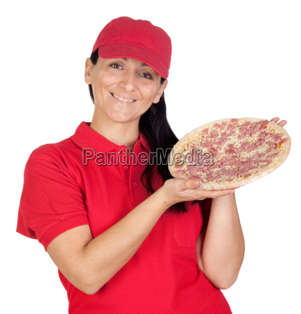delivery, woman, of, pizza - 3027748