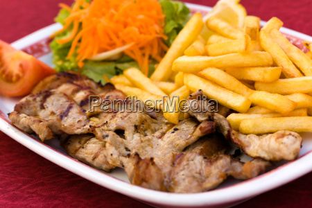 cutlet, with, french, fries - 3030855