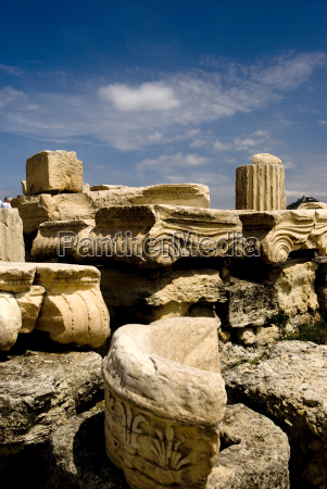 remains, and, parts, in, acropolis, , - 3033287