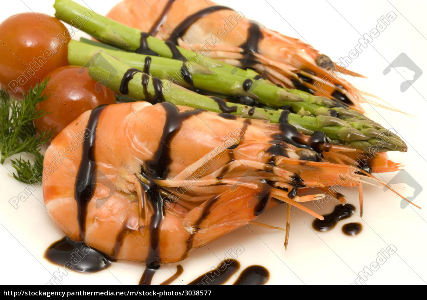 shrimps, and, asparagus - 3038577