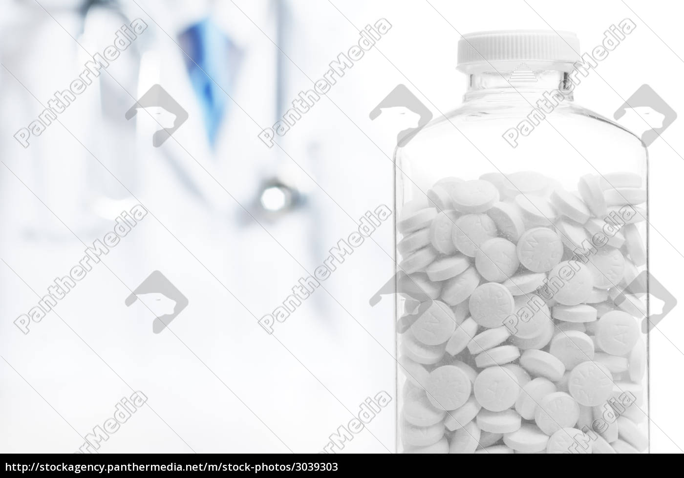 doctor, and, bottle, of, pills, on - 3039303
