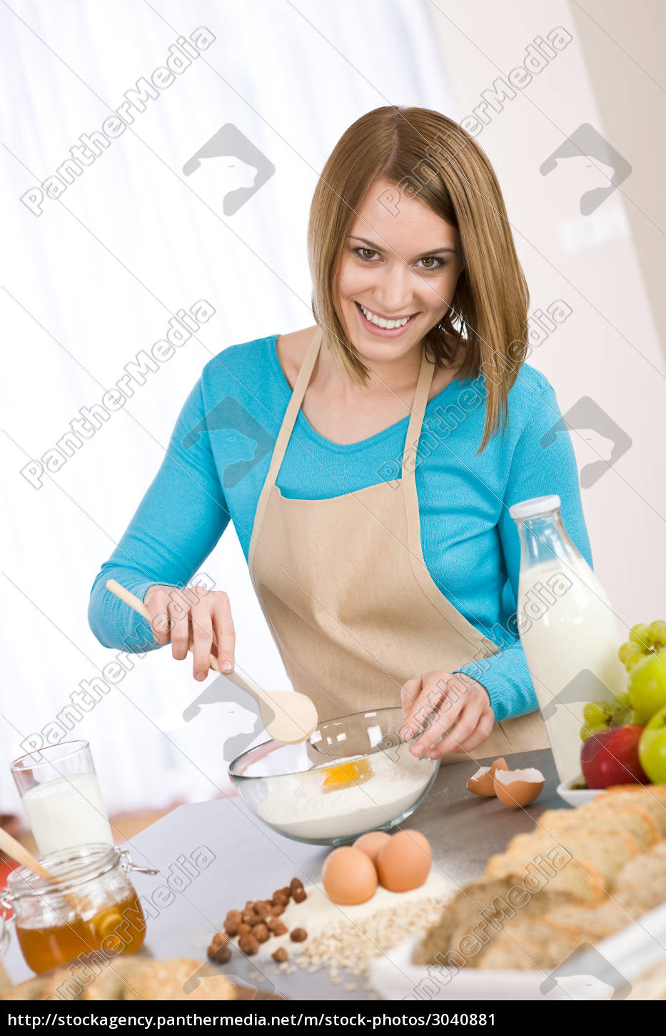 baking, -, , woman, with, healthy - 3040881