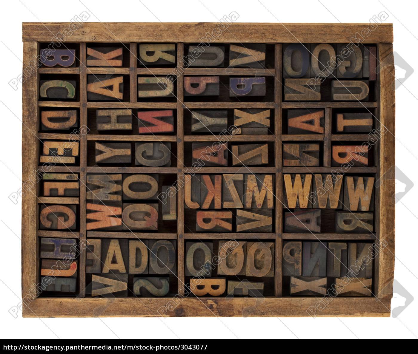 alphabet, in, antique, wood, letterpress, types - 3043077