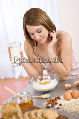 baking, -, , woman, with, healthy - 3044947