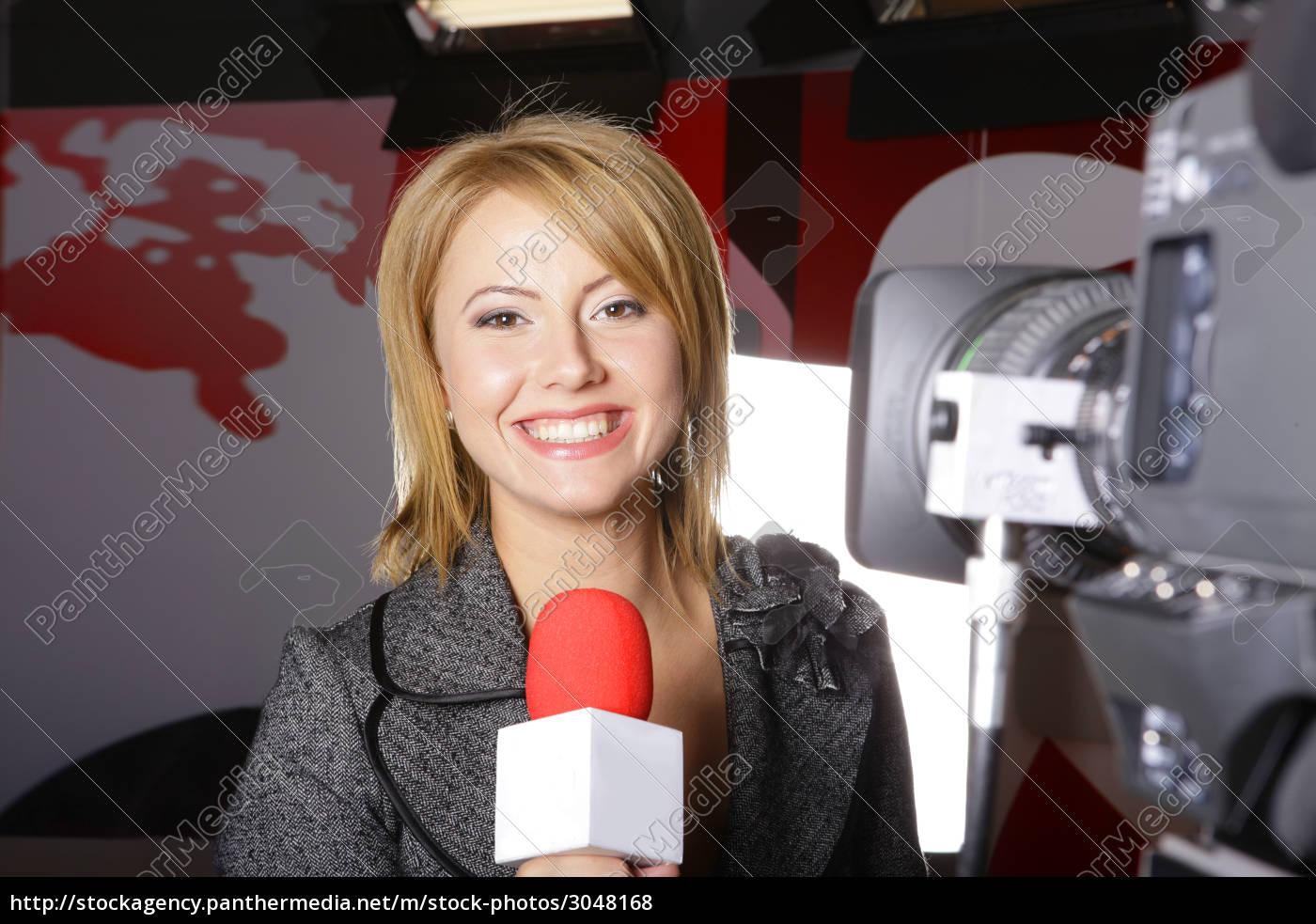 , reporter, in, tv, studio - 3048168