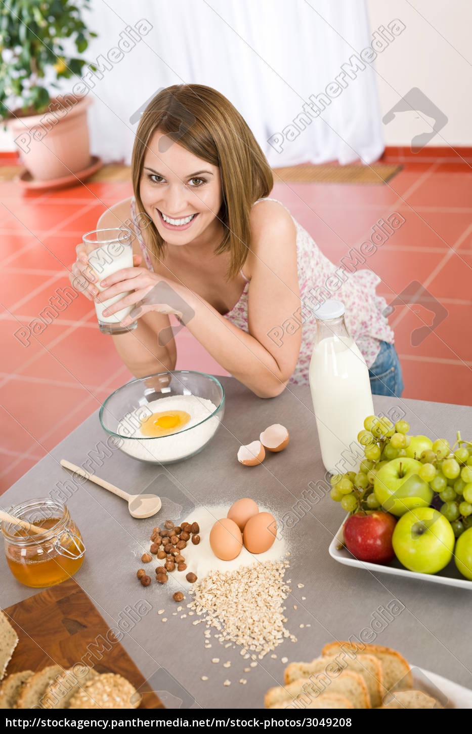 baking, -, , woman, with, healthy - 3049208