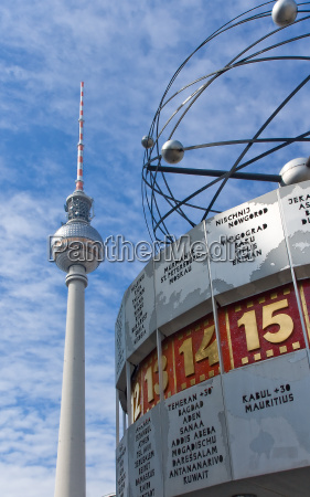 television tower and world clock in