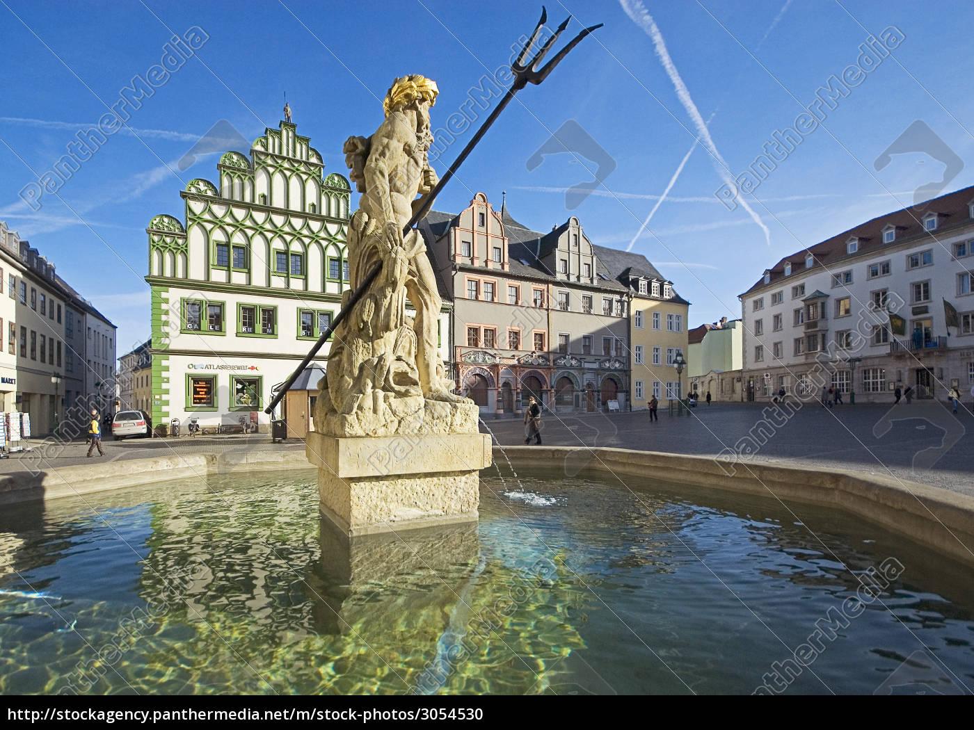 neptune, fountain, weimar - 3054530