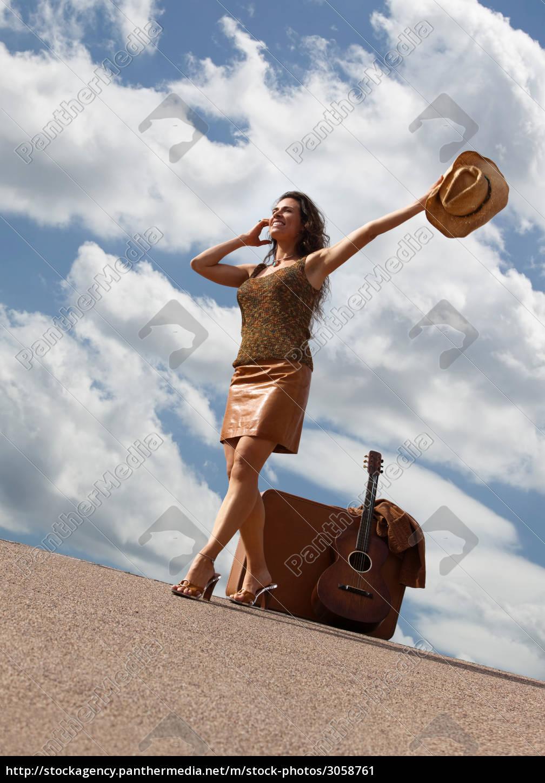 travel, fashion, cloud, guitar, cowboy, country - 3058761