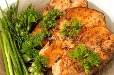 appetizing, fried, salmon - 3061487