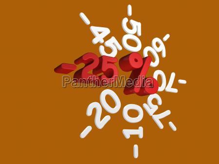 rabattaktion, -25, percent - 3061655