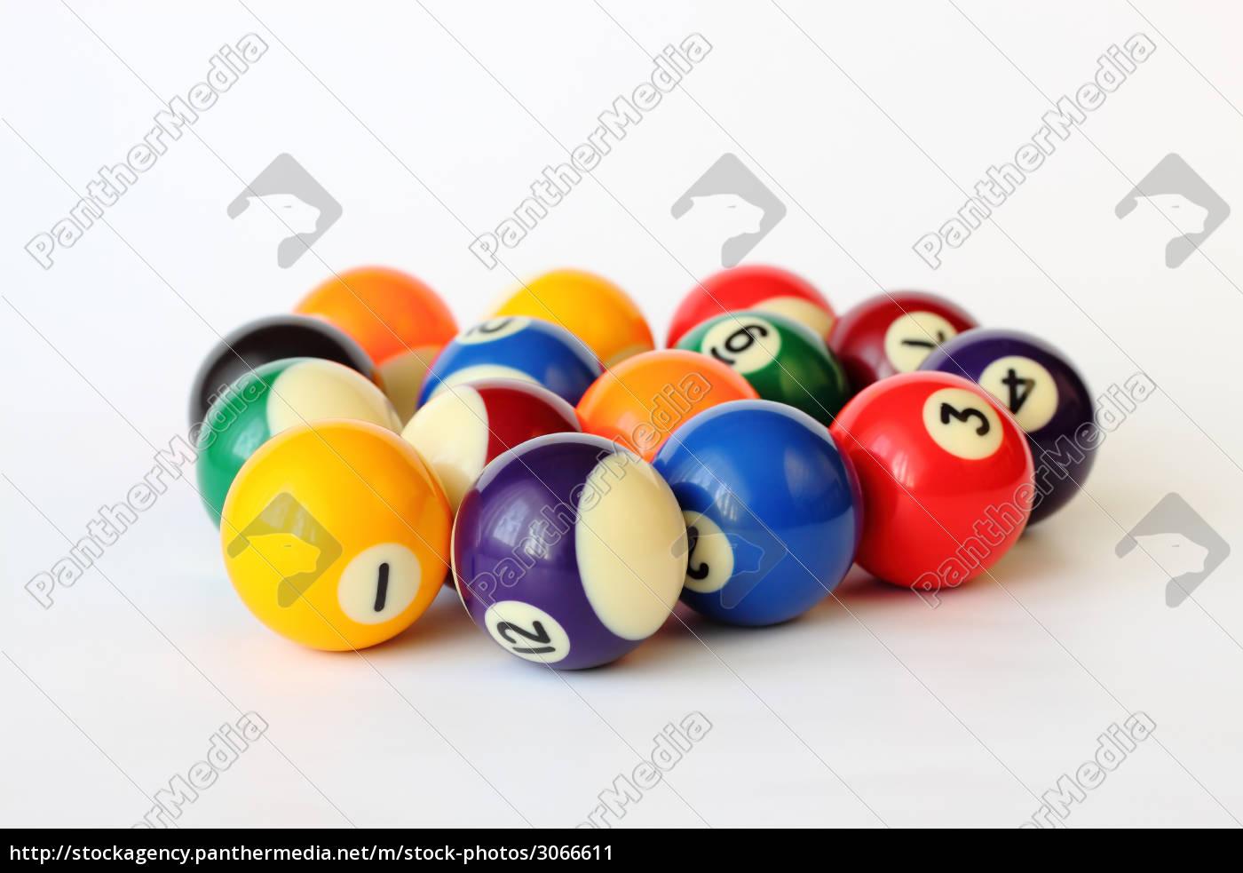 brightly, colored, pool, or, billiard, balls - 3066611