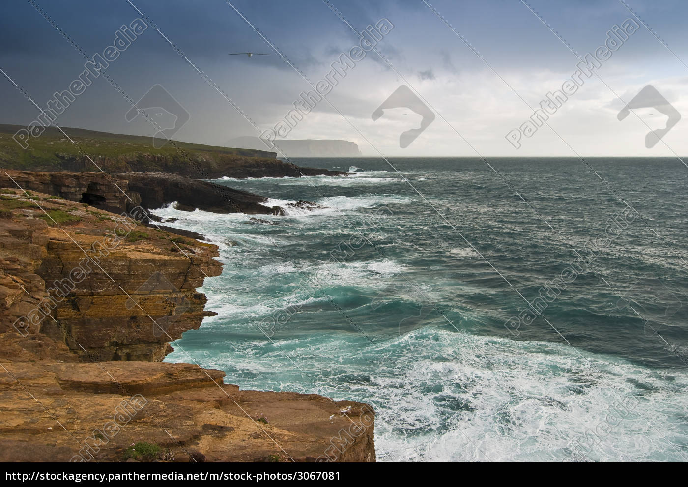 stormy, day, at, yesnaby, , orkney - 3067081