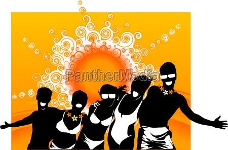 guy, woman, disco, party, celebration, pattern - 3069395