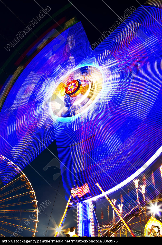 karusell, blue, ferris, wheel, in, the - 3069975