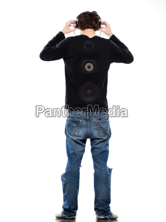 young, man, listening, to, music - 3069365