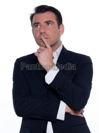 handsome pensive man portrait