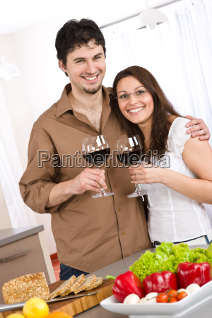cooking, -, happy, couple, together, in - 3073417