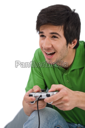 young, happy, man, playing, video, game - 3073413