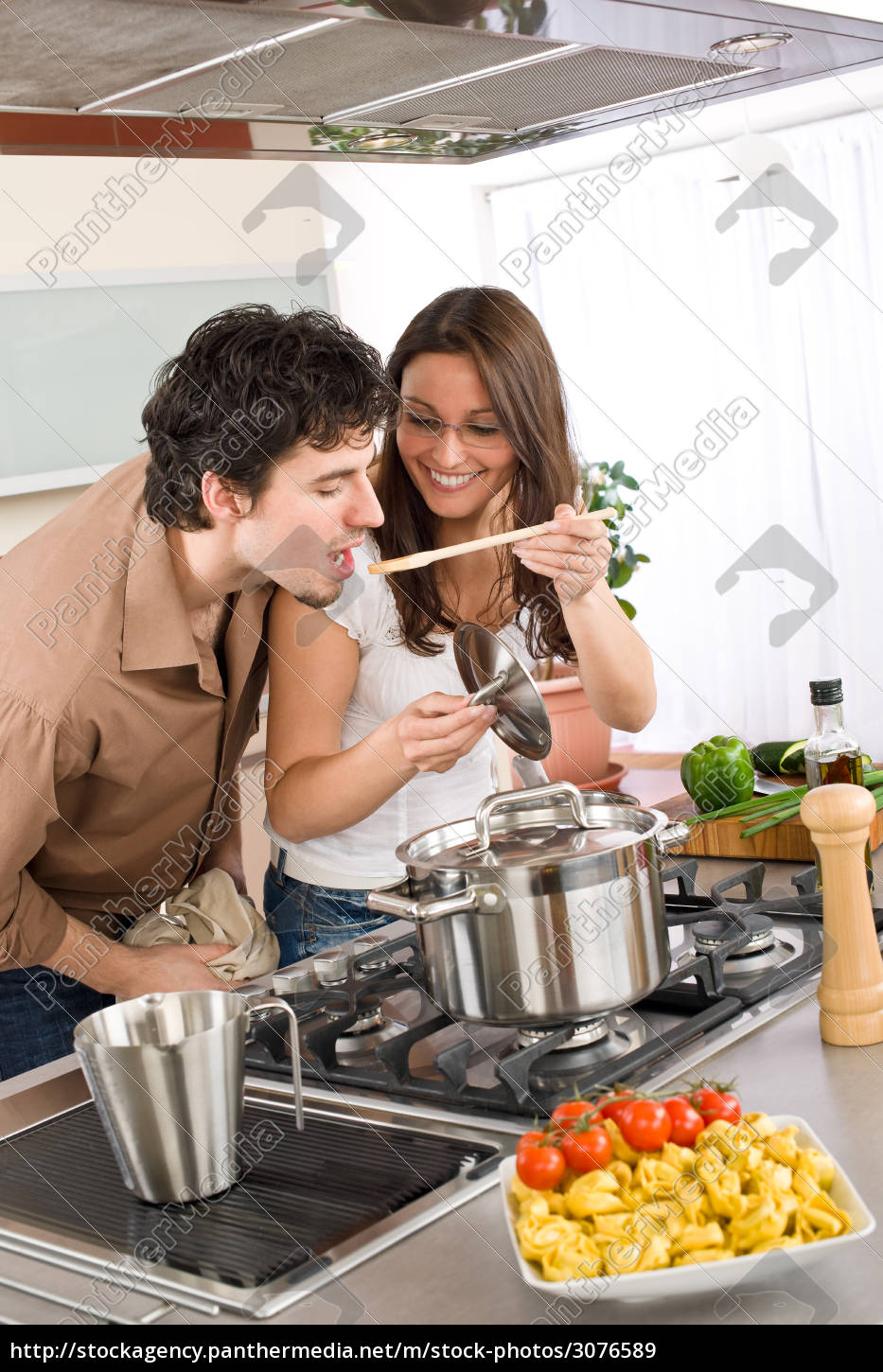 couple, cook, in, kitchen, -, man - 3076589