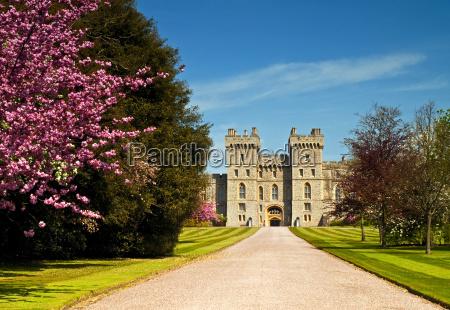windsor castle in spring