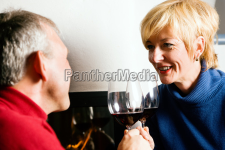 couple, drinks, red, wine - 3079613